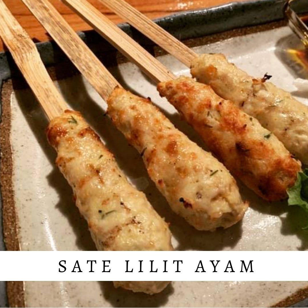 sate lilit ayam - Damar Bali Catering